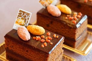 チョコレートケーキの素材 [FYI00242303]