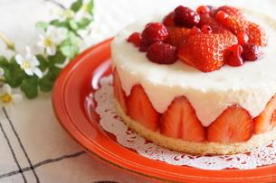 苺のケーキの写真素材 [FYI00242316]