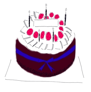 バースデーケーキの写真素材 [FYI00242661]