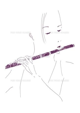 フルート奏者の写真素材 [FYI00242689]