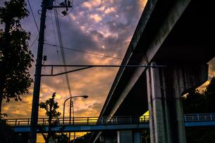 夕暮れの高架の写真素材 [FYI00243101]