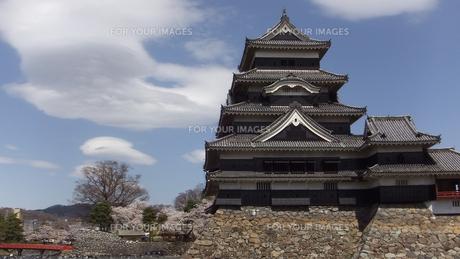 国宝 松本城-5の写真素材 [FYI00243125]