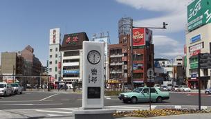 松本駅 小沢征爾 楽都の時計塔の写真素材 [FYI00243127]