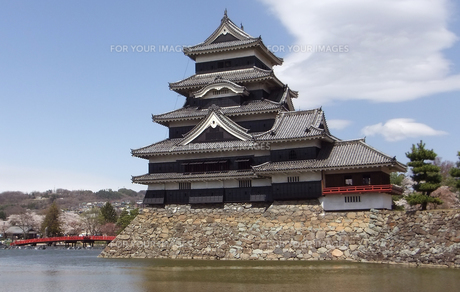 国宝 松本城-3の写真素材 [FYI00243137]