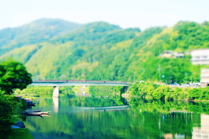錦帯橋からの眺めの素材 [FYI00243249]