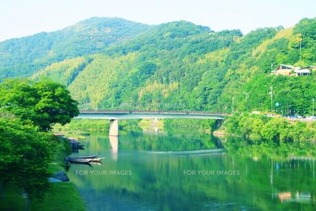 錦帯橋からの眺め2の素材 [FYI00243259]