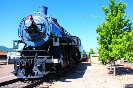 グランドキャニオン鉄道の汽車(ヨコ)の写真素材 [FYI00243292]