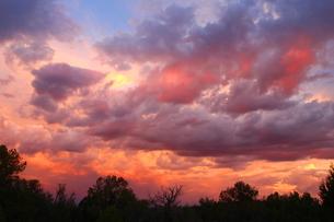 アリゾナのモンスーンの時期の夕暮れの素材 [FYI00243310]