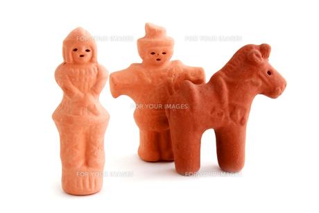 埴輪 人と馬の素材 [FYI00243466]