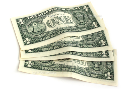 米ドル札の裏面の素材 [FYI00243469]