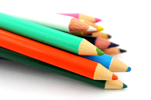 色鉛筆の素材 [FYI00243489]
