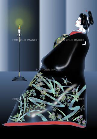 由縁の月 歌舞伎 の素材 [FYI00243514]