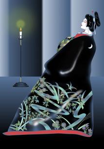 由縁の月 歌舞伎 の写真素材 [FYI00243514]