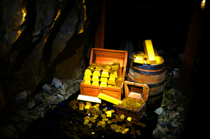 鯛生金山の金塊の写真素材 [FYI00243614]
