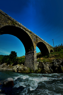宇佐市院内の石橋の写真素材 [FYI00243639]