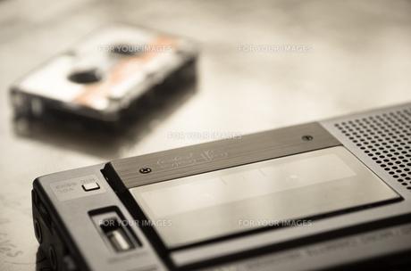 マイクロカセットレコーダーの素材 [FYI00244614]