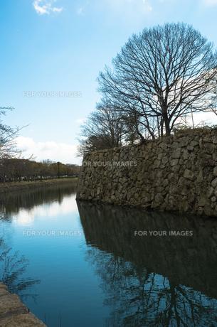 姫路城の堀の写真素材 [FYI00244624]