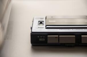 マイクロカセットレコーダーの素材 [FYI00244625]