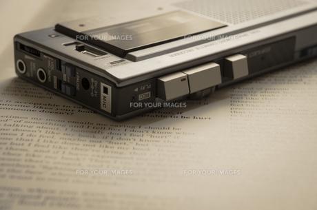 マイクロカセットレコーダーの素材 [FYI00244628]