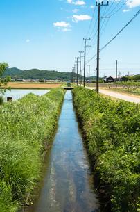 農村の用水路の素材 [FYI00244680]