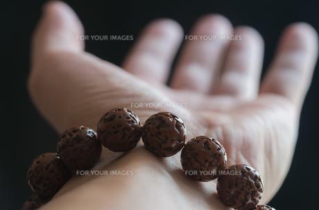 数珠と手の素材 [FYI00244719]