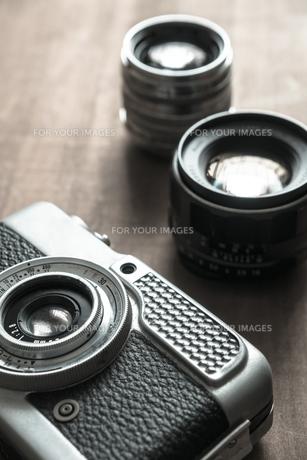 レトロカメラとレンズの写真素材 [FYI00244735]