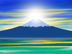 ダイヤモンド富士の写真素材 [FYI00244869]