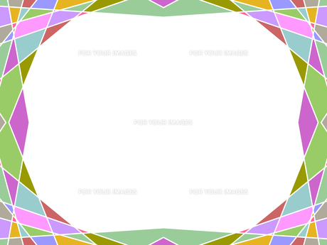 カラフルなステンドグラス風のフレームの写真素材 [FYI00244880]