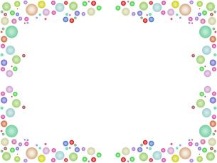 水玉模様のフレームの写真素材 [FYI00244884]