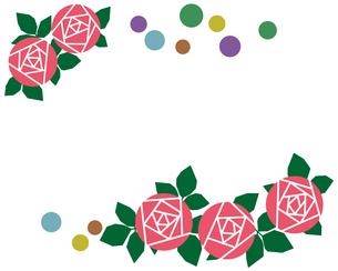 バラの花のフレームの写真素材 [FYI00244891]