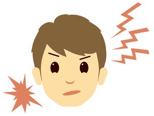 怒った男性の顔の写真素材 [FYI00244904]