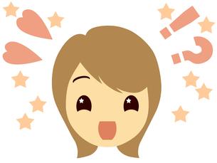 驚き喜ぶ女性の顔の写真素材 [FYI00244905]