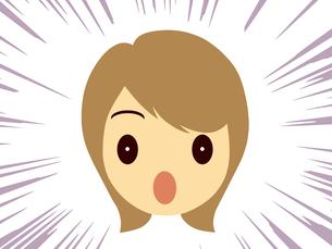 恐怖にこわばる女性の顔の写真素材 [FYI00244912]