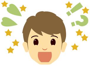驚き喜ぶ男性の顔の写真素材 [FYI00244914]