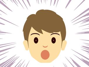 恐怖にこわばる男性の顔の写真素材 [FYI00244916]