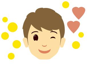 ウインクする男性の顔の写真素材 [FYI00244918]