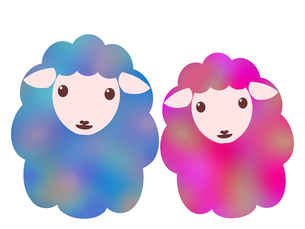 羊のイラストの写真素材 [FYI00244929]