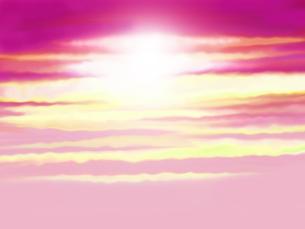 輝く空の写真素材 [FYI00244930]