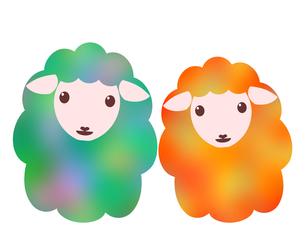 羊のイラストの写真素材 [FYI00244940]