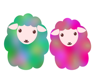 羊のイラストの写真素材 [FYI00244942]