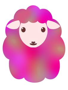 羊のイラストの写真素材 [FYI00244943]