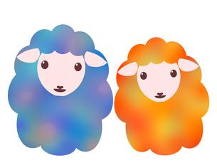 羊のイラストの写真素材 [FYI00244955]