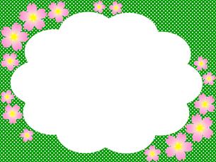 桜模様のフレームの写真素材 [FYI00245034]