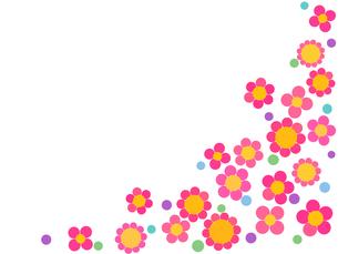 花と水玉の写真素材 [FYI00245202]