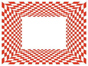 紅白市松模様のフレームの写真素材 [FYI00245206]