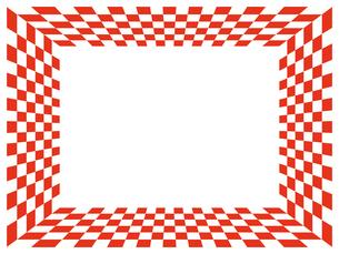紅白市松模様のフレームの写真素材 [FYI00245210]