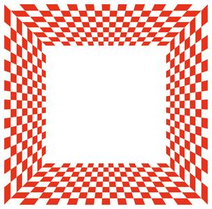 紅白市松模様のフレームの写真素材 [FYI00245215]