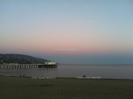 sunset & pier の素材 [FYI00245569]