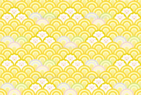 和柄背景 波みやび羊の写真素材 [FYI00245607]