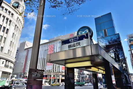 東京メトロ銀座駅の写真素材 [FYI00245640]